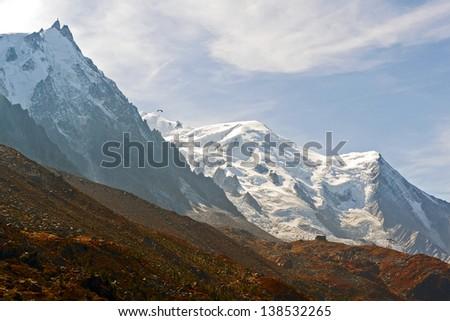 The Aiguille du Midi - France - stock photo