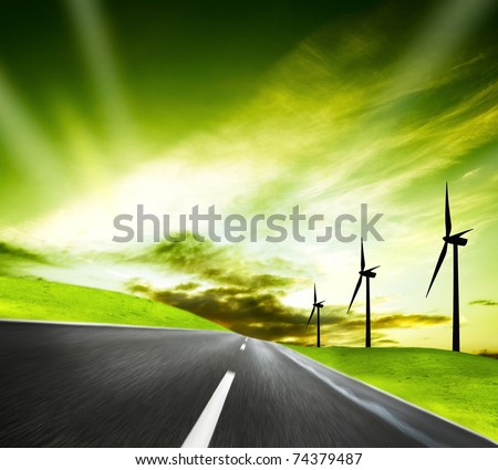 The aim of industrial ecology - stock photo