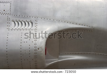 The air-intake of a jet fighter. - stock photo