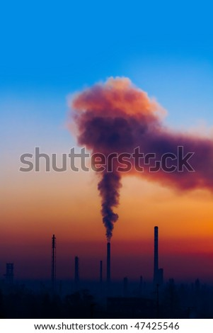 the air pollution of thermal power plant