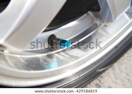 The air valve stem of wheel