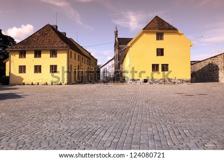 The Akershus Fortress in Oslo, Norway - stock photo