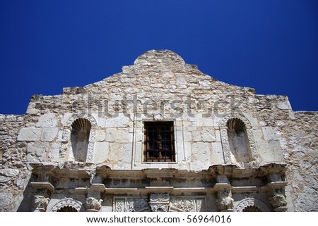 The Alamo in downtown San Antonio, Texas - stock photo