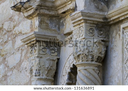 The Alamo mission in San Antonio Missions National park , Texas - stock photo