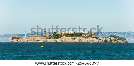 The Alcartaz is a prison in the Island in San Francisco Bay - stock photo