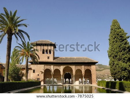 The Alhambra, in Granada Spain. This is an UNESCO World Heritage site