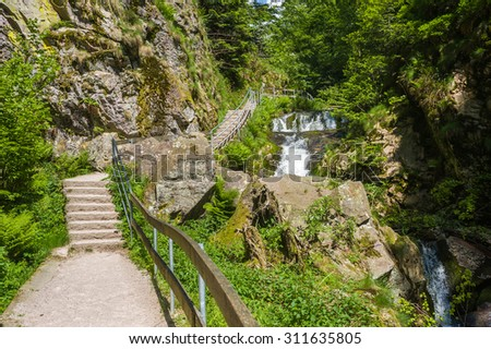 The All Saints waterfalls in Oppenau. Black Forest, Baden-Wurttemberg, Germany, Europe - stock photo