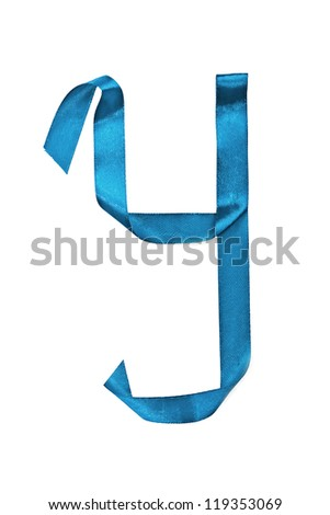 The alphabet letter Y on a white background