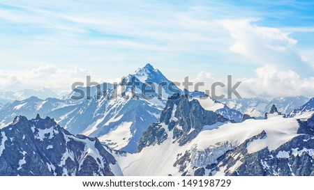 The Alps from the Titlis Peak - stock photo