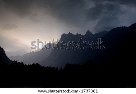 The Alps, Grenoble, France - stock photo