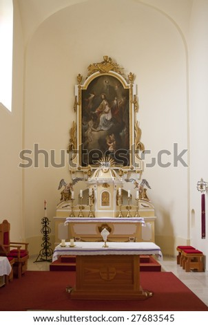 The Altar in Lipot's church, Hungary - stock photo
