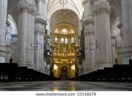 The Altar of the Cathedral in Granada