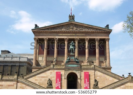 The Alte Nationalgalerie museum in Berlin, Germany