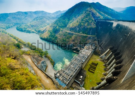 The alternative energy from water - stock photo