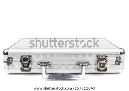 The aluminum carrying case.  - stock photo