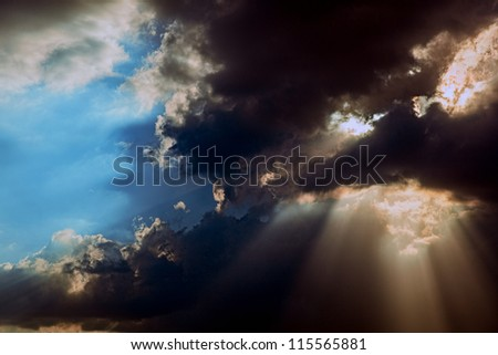 The amazing view of the sky - stock photo