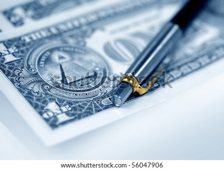 The American dollars and pen