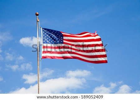 The American flag.
