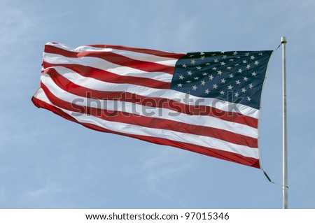The American Flag Flowing In The Wind