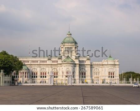 The Ananta Samakhom Throne Hall, The King of Thailand palace, landmark in Bangkok - stock photo