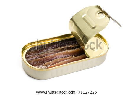 the anchovies fillets in tin can