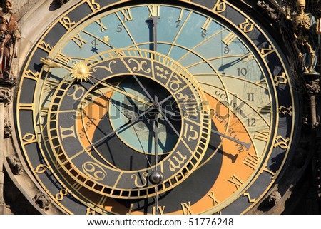 The ancient astronomical Clock in Prague