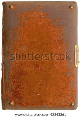 The ancient book isolated on white background - stock photo