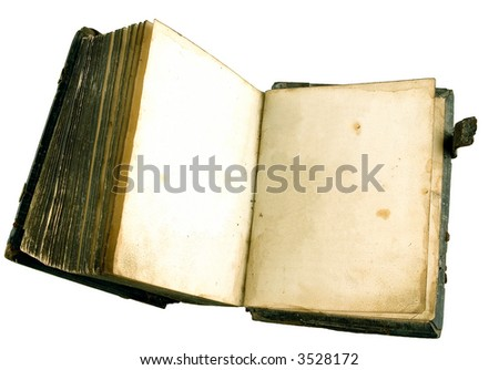 The ancient book on a light background