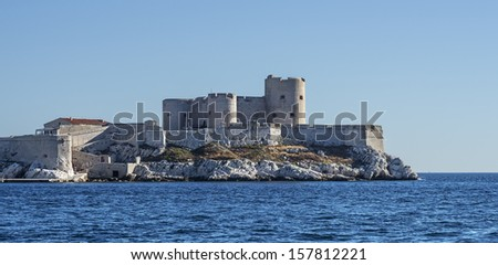 "The ancient castle ""Chateau dIf"" near Marseille in South France"