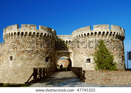 The ancient castle in Belgrade in Serbia - stock photo