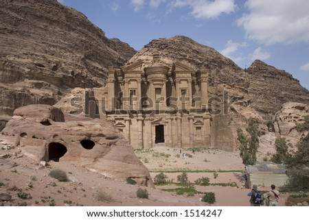 The ancient City of Petra - stock photo