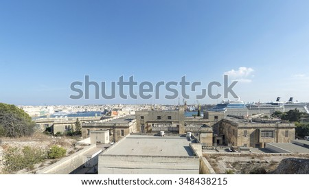 The ancient Fort St Angelo in Grand Harbor of Valetta, Malta