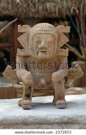 The ancient indian figure. Ecuador. South America - stock photo