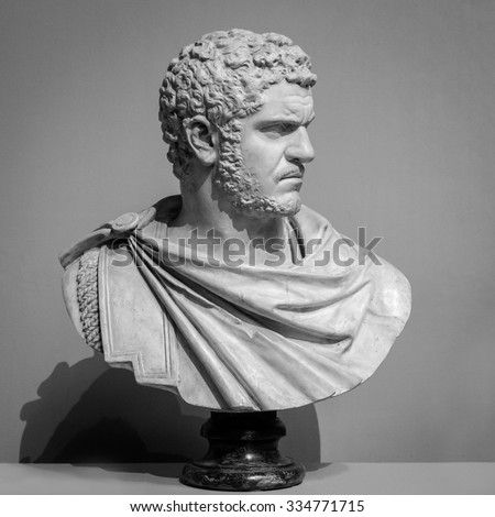 The ancient marble portrait bust.