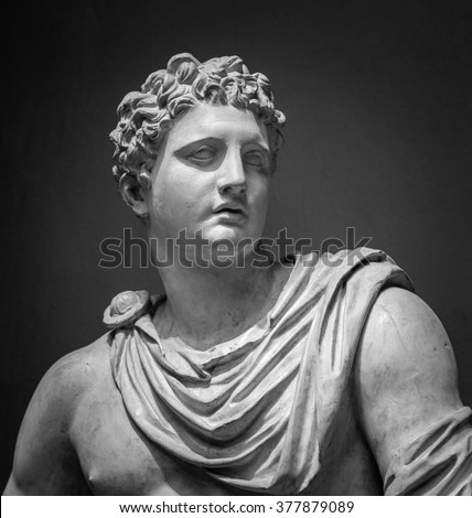 The ancient marble portrait of Meleager - stock photo
