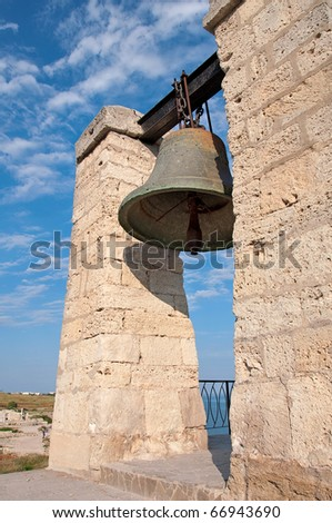 The ancient orthodox bell, ancient architecture, Chersonese, Crimea - stock photo