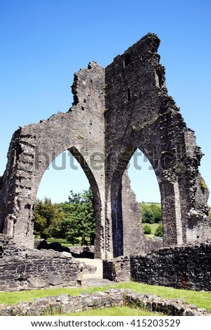 The ancient ruin of Talley Abbey, Carmarthenshire, Wales, UK dates back to the late 12th Century, where it was first founded as a monastery by the Premonstratensians (White Canons)