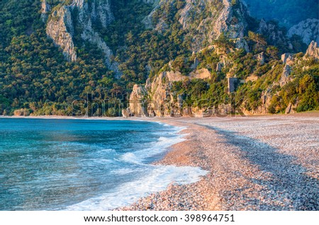The Ancient Ruins of Olympos, Turkey - stock photo