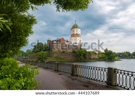 The ancient white castle of Vyborg was founded by Swedes in 1293, during the Third crusade to the Karelian land, an ally of Novgorod the Great. Old historical building under UNESCO protection.