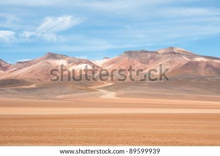 The Andes, near Atacama (chile) - stock photo