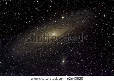 The Andromeda Galaxy, M31 - stock photo