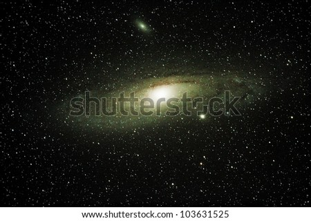 The Andromeda Galaxy with its companion Galaxies