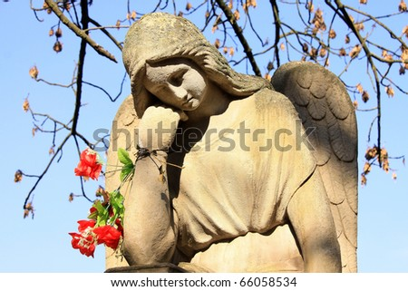 The Angel on the blue Sky - stock photo