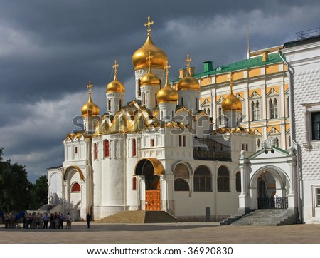 The Annunciation Cathedral (Moscow Kremlin, Russia)  - stock photo