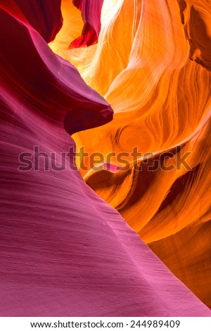 The Antelope Canyon, Page, Arizona, USA. - stock photo