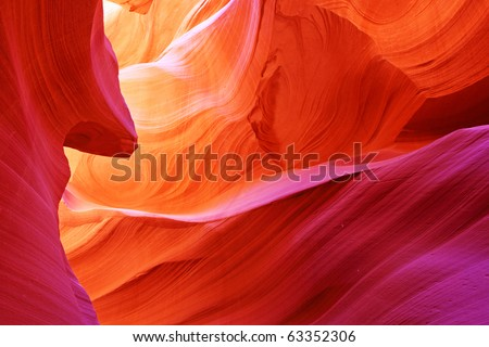 The Antelope Canyon, Page, Arizona, USA - stock photo