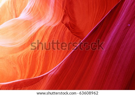The Antelope Canyon, Page, Arizona, USA