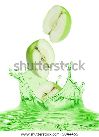 The apples falls in own juice - stock photo