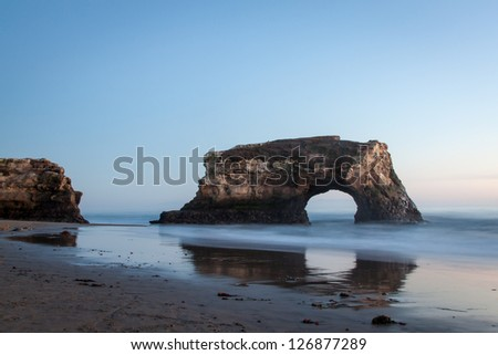 The Arch at natural bridges state beach in Santa Cruz, CA - stock photo