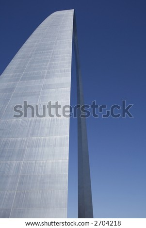 The Arch at St. Louis - Close up Abstract Perspective - stock photo